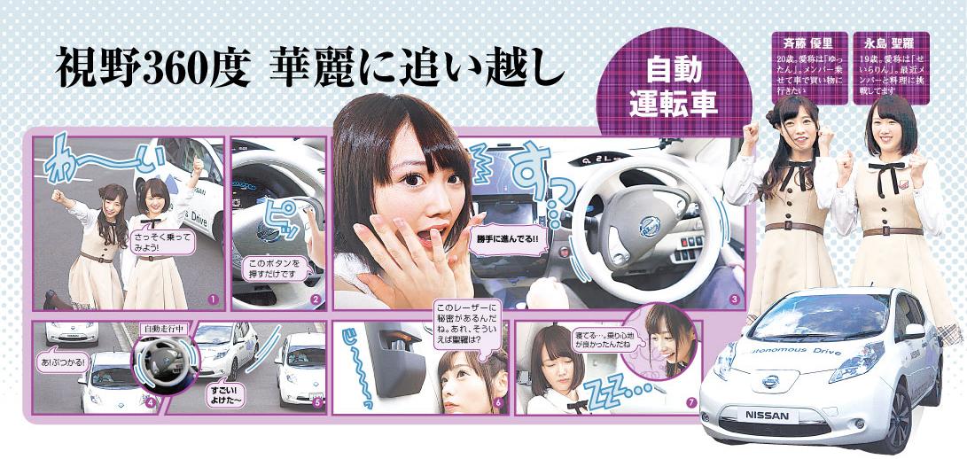 (乃木坂46 見る知る未来)自動運転カー、華麗な運転