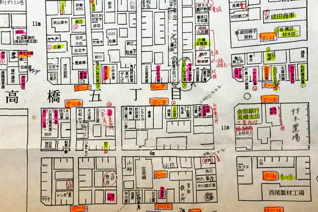 東京)大空襲前の町並みを地図 ...