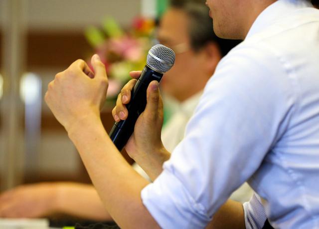 シンポジウムに出席した被害者の兄は、この10年の思いを語った=24日、福岡市中央区、藤脇正真撮影