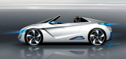 写真:ホンダが12月の東京モーターショーで公開するスポーツ型の電気自動車... ホンダが12月の