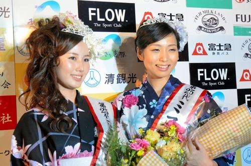 写真:ミス富士山グランプリの栄冠に輝いた森川夕貴... 静岡 ミス富士山グランプリの栄冠に輝いた