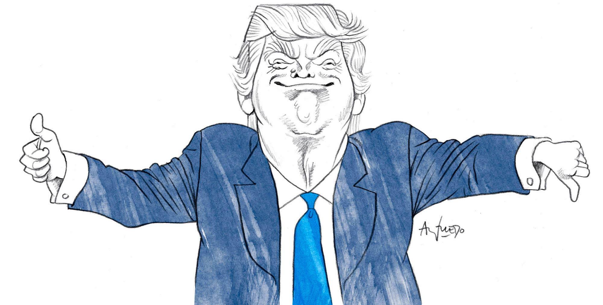 世界が描いたトランプ大統領 トランプ大統領 100日