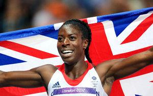 女子400メートルで銀メダルのオフルオグ=矢木隆晴撮影
