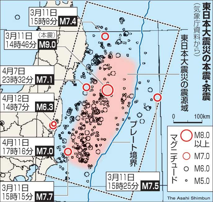 大震災 震源 東日本