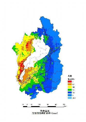 写真:琵琶湖西岸断層帯(震源・北部)の震度予測図... 滋賀県琵琶湖西岸断層帯(震源・北部)の震