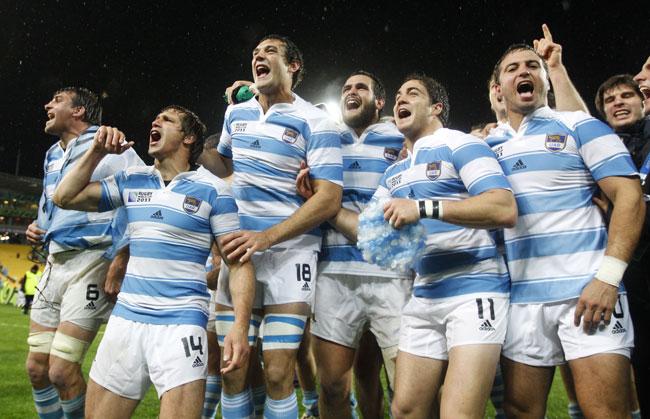 写真 〈アルゼンチン―スコットランド(9/25)〉 スコットランドに勝利して... asahi.