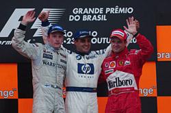 F1最終戦ブラジルGP、モントーヤ...
