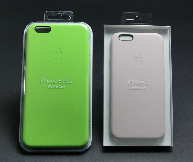 8eceb777f4 アップル純正カバー。左はiPhone 6 Plus用の「シリコンケース」(3800円)。右はiPhone 6用の「レザーケース」(4800円)