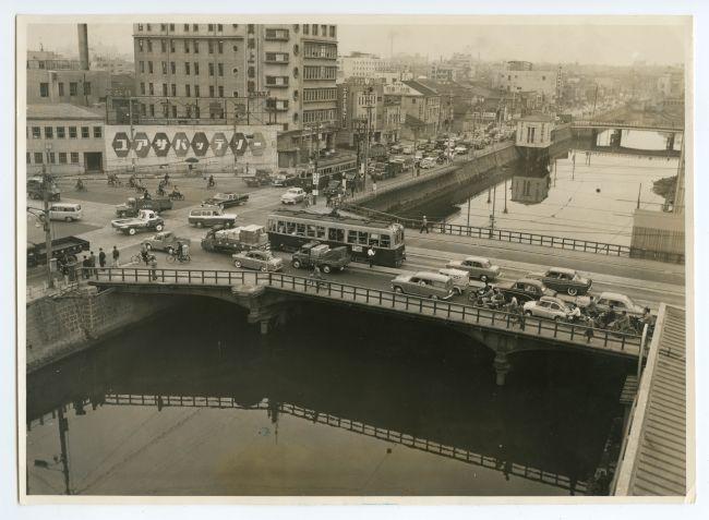 埋め立てが近づいた長堀川=1960年撮影(16/25)ー昭和の船場 フォト ...
