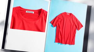 Vゾーンに華やぎを添える、クープロンドのTシャツ
