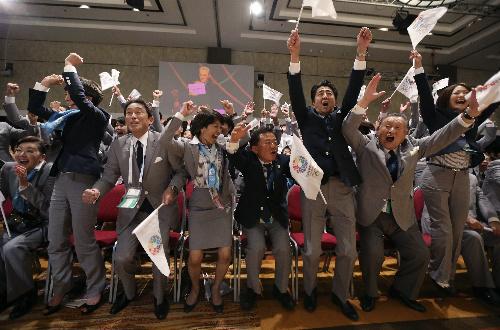 朝日新聞デジタル:東京五輪開催決定 決選でイスタンブールに60対36 - 2020東京オリンピック