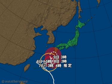 台風の進路予想図